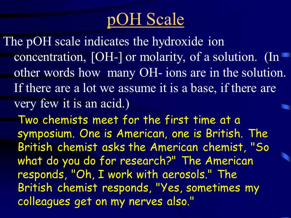 Where does the pH scale come from.