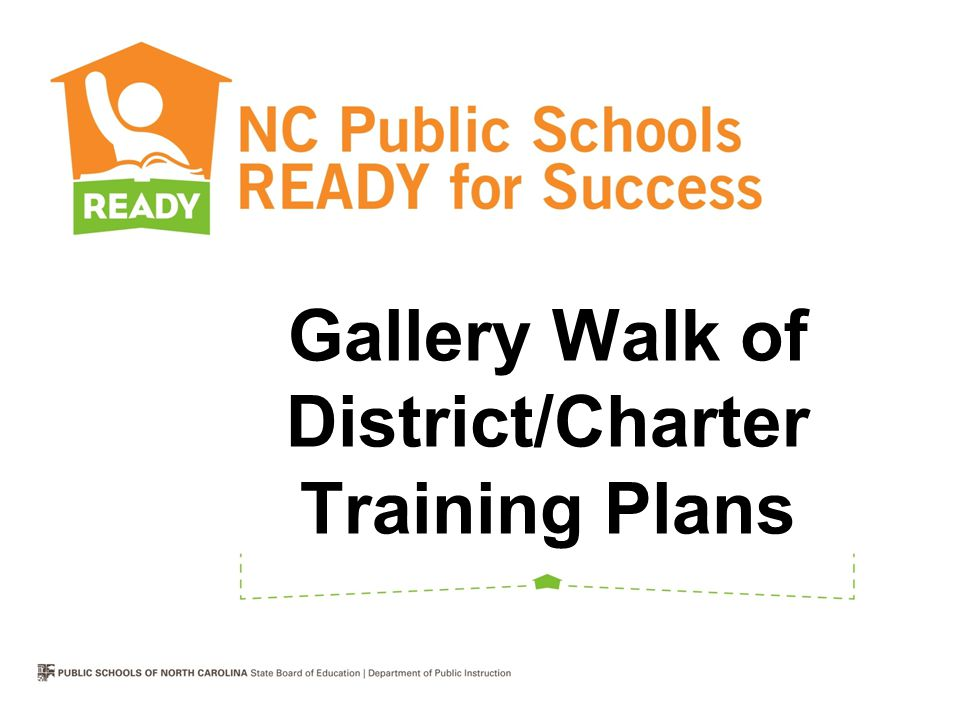 Gallery Walk of District/Charter Training Plans