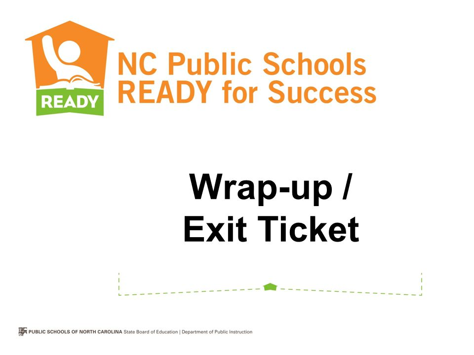 Wrap-up / Exit Ticket
