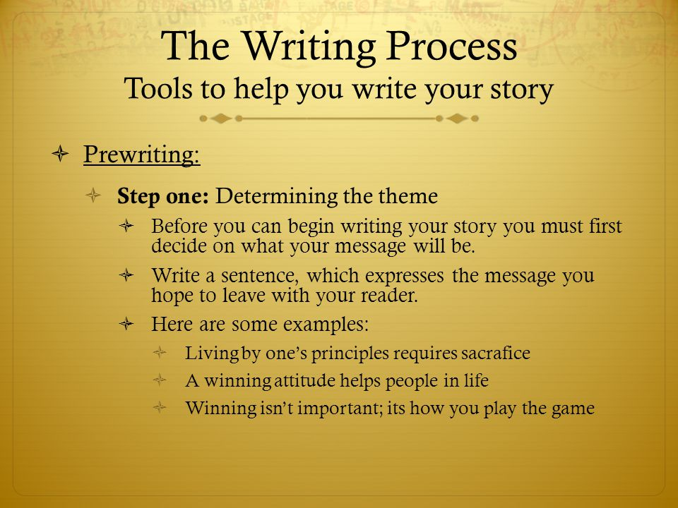 What to write in a story