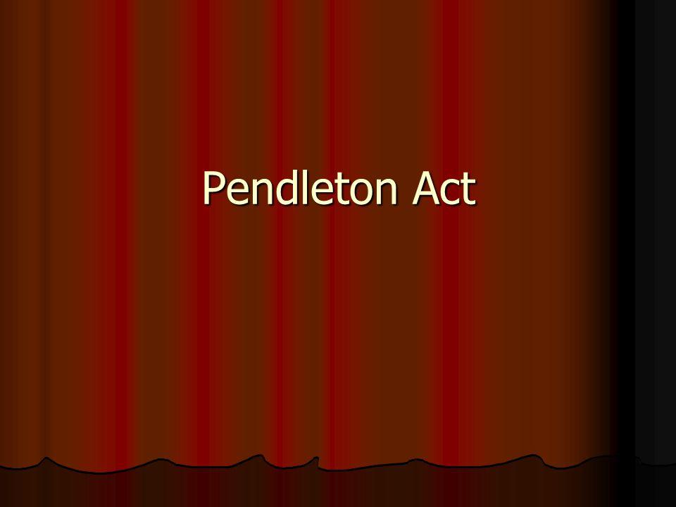 Pendleton Act