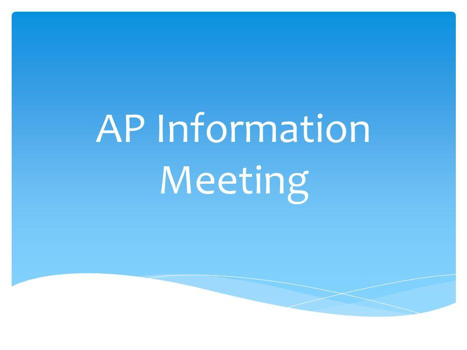 AP Information Meeting