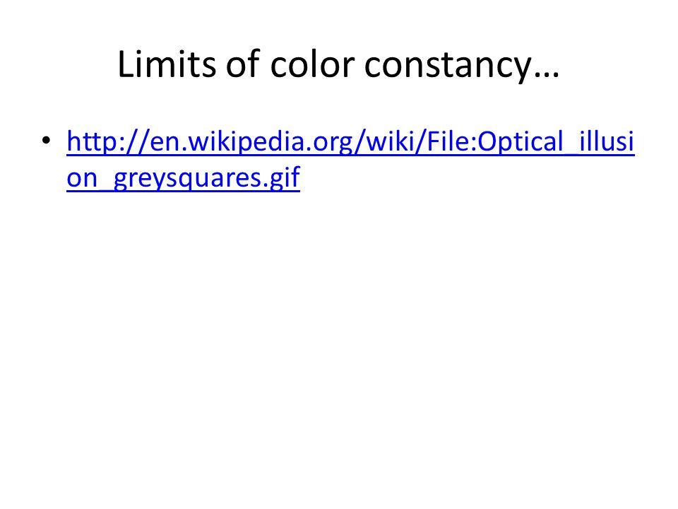 http://en.wikipedia.org/wiki/File:Optical_illusi on_greysquares.gif http://en.wikipedia.org/wiki/File:Optical_illusi on_greysquares.gif