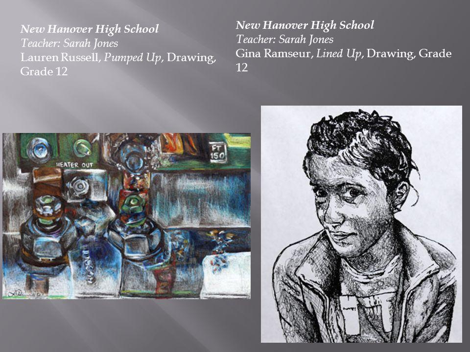 New Hanover High School Teacher: Sarah Jones Lauren Russell, Pumped Up, Drawing, Grade 12 New Hanover High School Teacher: Sarah Jones Gina Ramseur, L