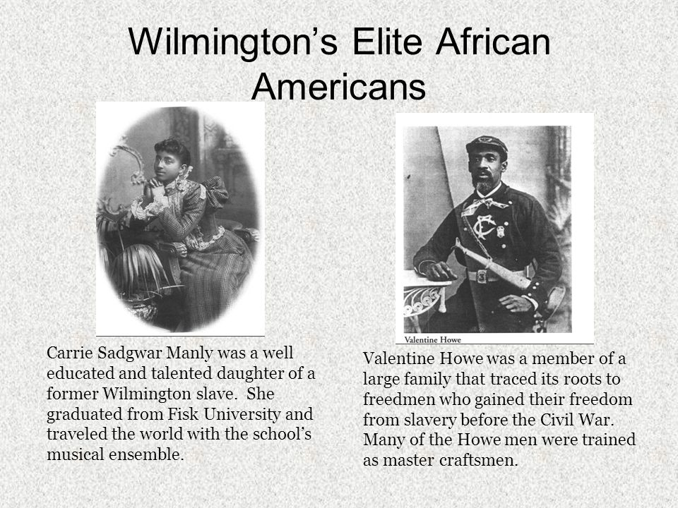 White Community Although not in power in 1898, whites still maintained an upper class ruling elite rooted in tradition.