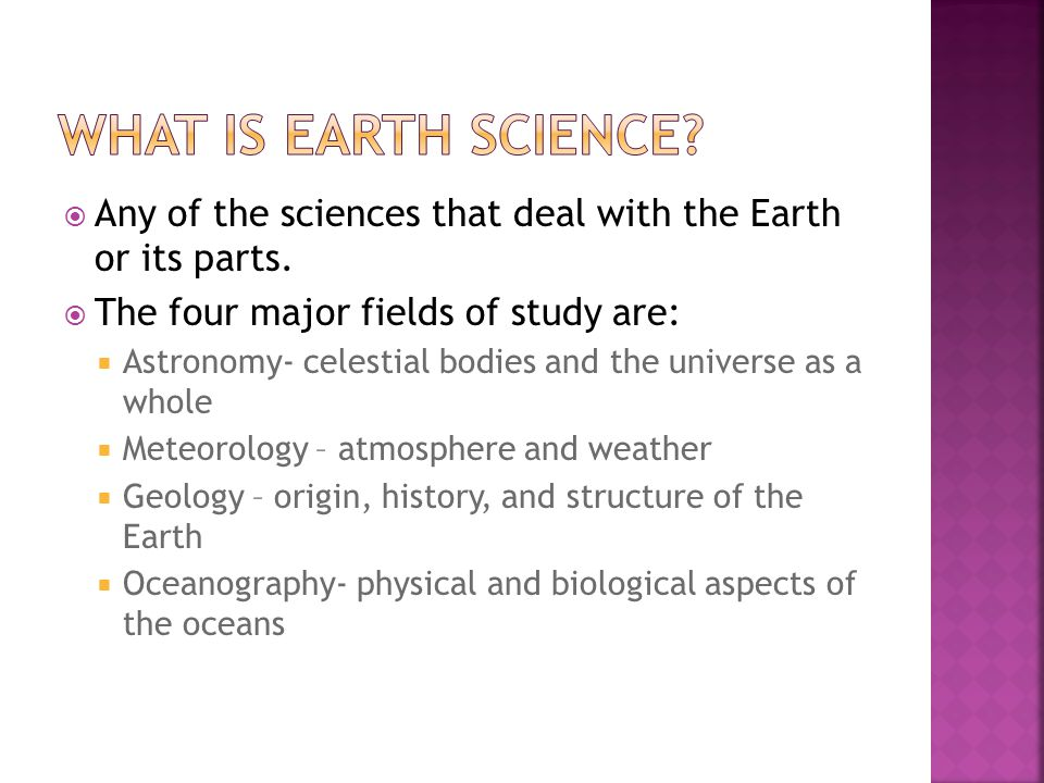  Any of the sciences that deal with the Earth or its parts.