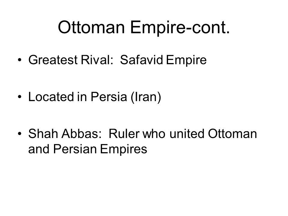 Ottoman Empire-cont.