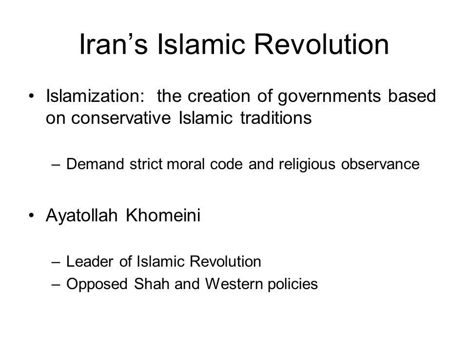 Iran's Islamic Revolution-cont.
