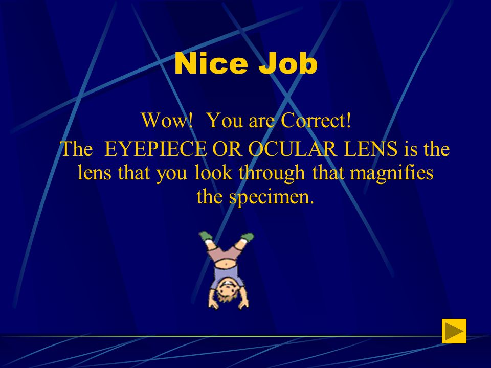 Test your Knowledge #3 Click on correct name: Scope or Eyepiece Body Tube or Pipe Control or Fine Focus