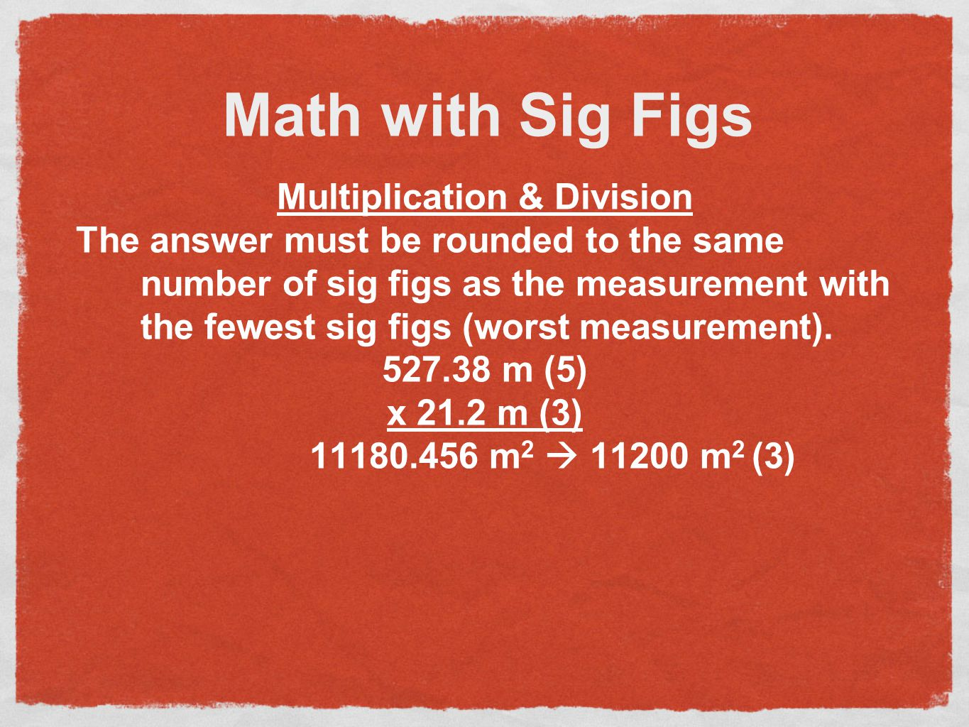 Math with Sig Figs Addition & Subtraction The answer must be rounded to the same number of decimal places as the measurement with the fewest decimal p