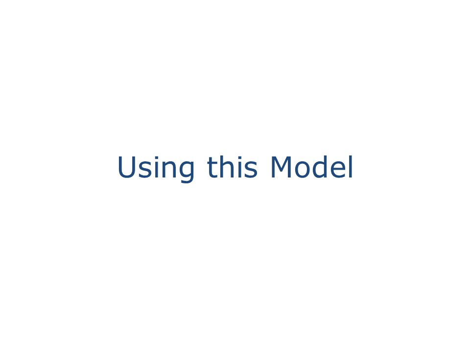Using this Model