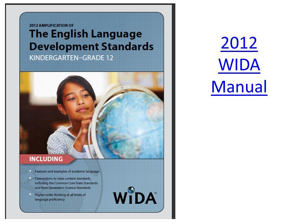 2012 WIDA Manual