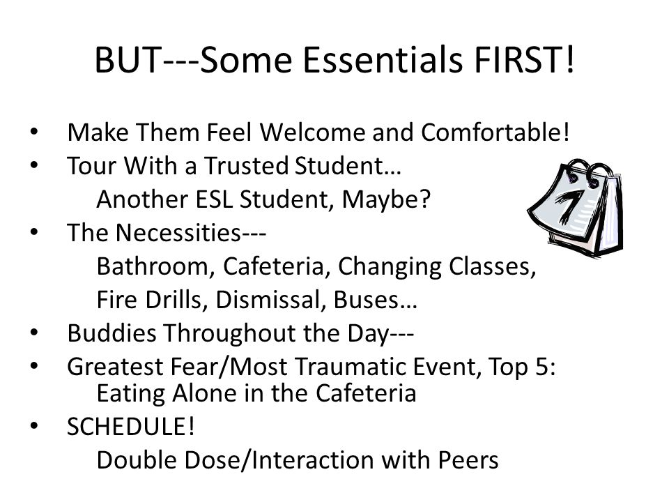 BUT---Some Essentials FIRST. Make Them Feel Welcome and Comfortable.
