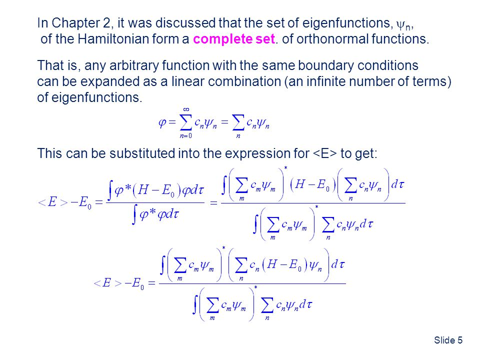 Slide 26 The Zeroth Order Ground State energy is: The Zeroth Order wavefunction is the product of He + 1s wavefunctions for electrons 1 and 2 Zeroth Order Energy and Wavefunction