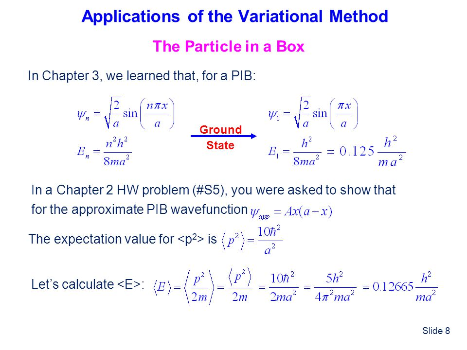 Slide 39 Wavefunction Energy % Error A Summary of Results E expt.