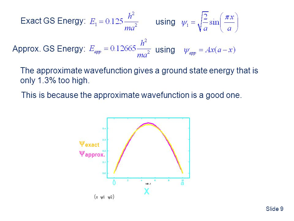 Slide 20 The Experimental Electronic Energy of He IE 1 = 24.59 eV IE 2 = 54.42 eV 0 He He + + e - He 2+ + 2e - Energy E He = -[ IE 1 + IE 2 ] E He = -[ 24.59 eV + 54.42 eV ] E He = -79.01 eV orE He = -2.9037 au (hartrees) Reference State By definition, the QM reference state (for which E=0) for atoms and molecules is when all nuclei and electrons are at infinite separation.