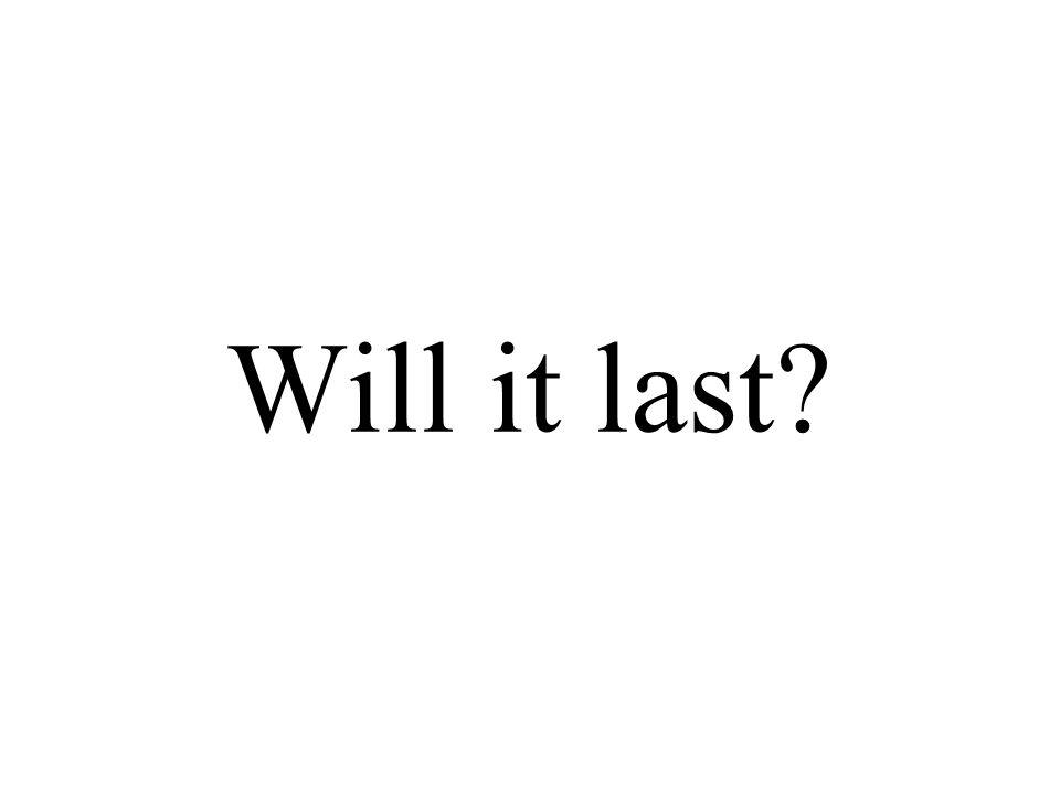 Will it last?