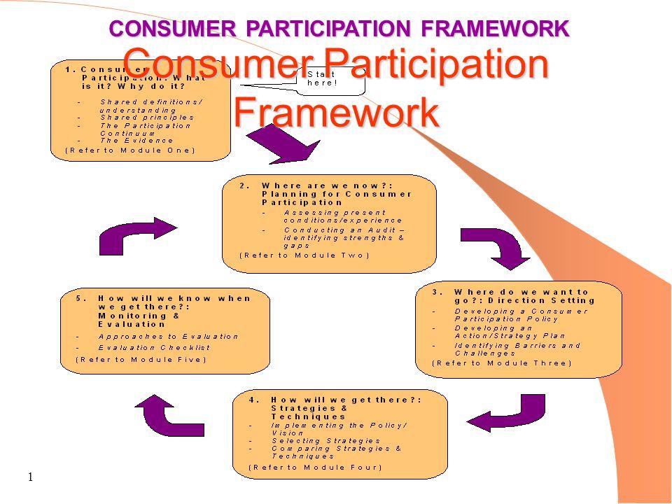 1 CONSUMER PARTICIPATION FRAMEWORK Consumer Participation Framework