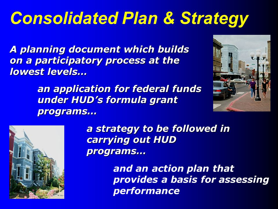 US Department of Housing & Urban Development – Office of Community Planning & Development 24 CFR 91