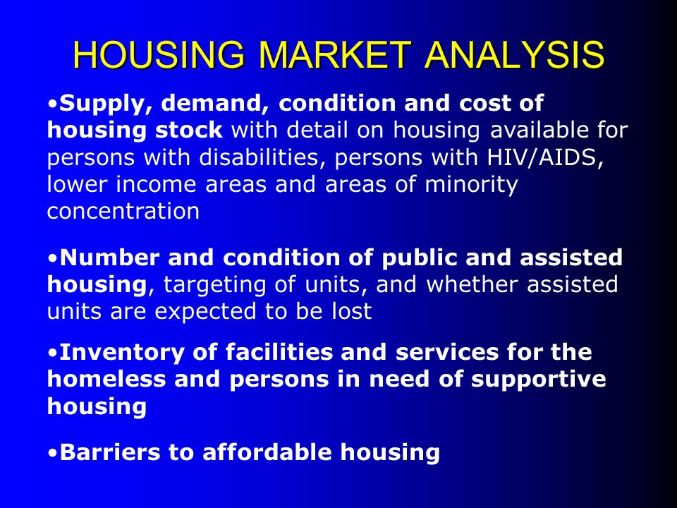 Analysis of the nature and extent of homelessness Analysis of facility needs of homeless: Emergency Shelters Emergency Shelters Transitional Shelters