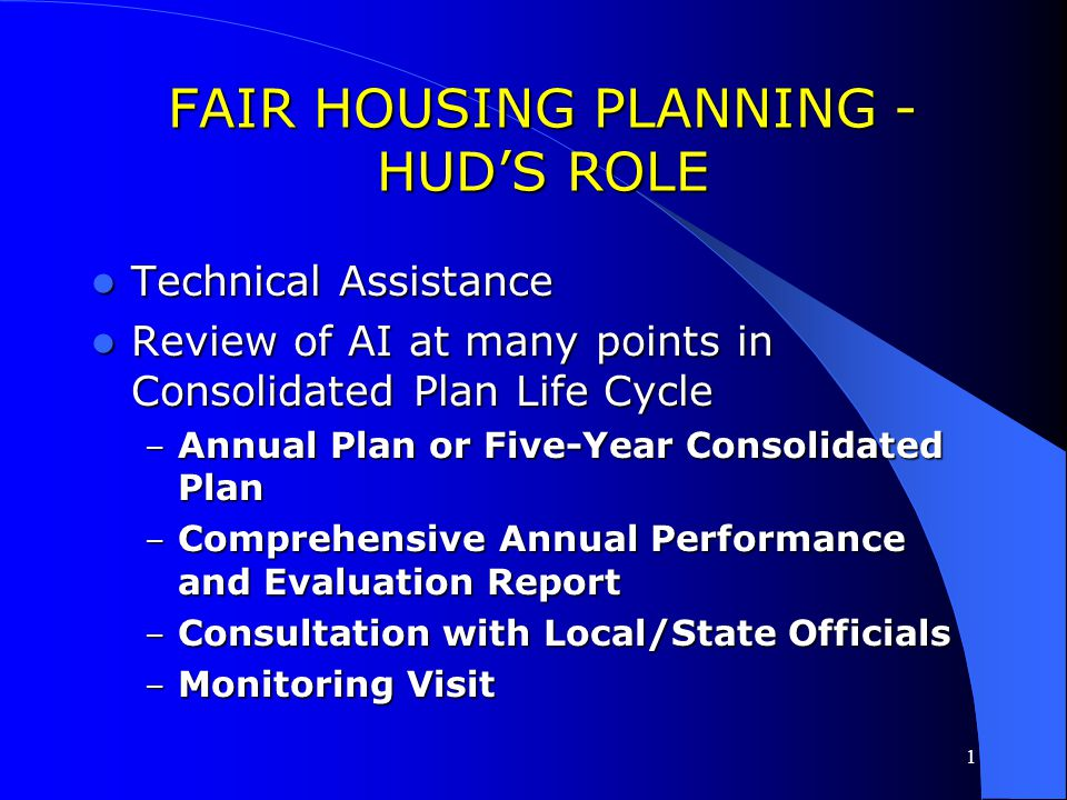1 Fair Housing Planning - Maintaining Records Supporting documentation should include: Supporting documentation should include: – The AI – Actions und
