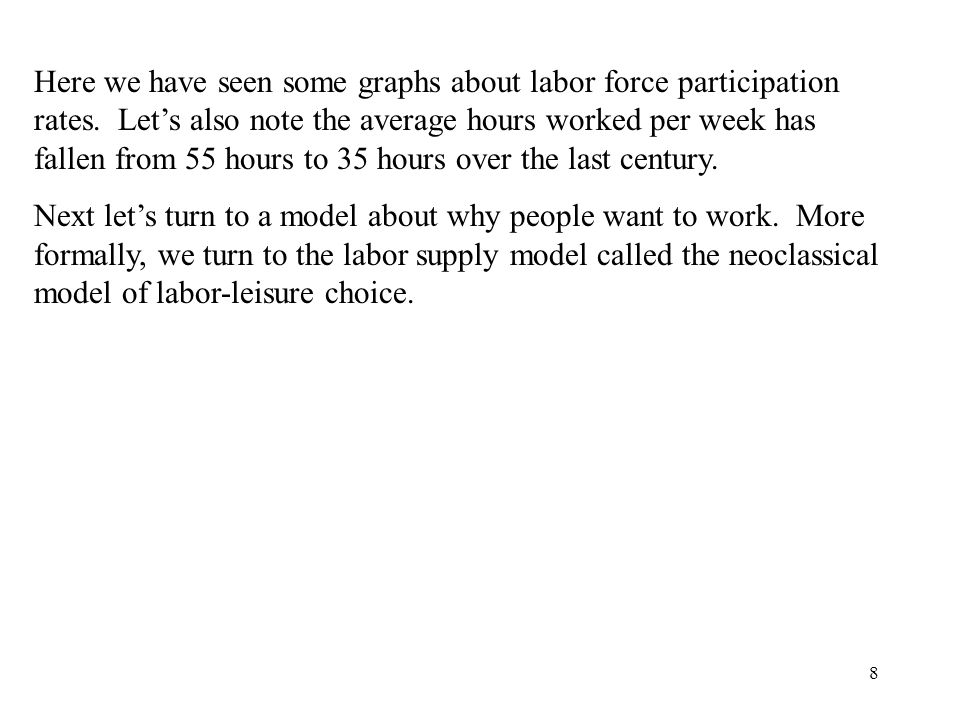 8 Here we have seen some graphs about labor force participation rates.