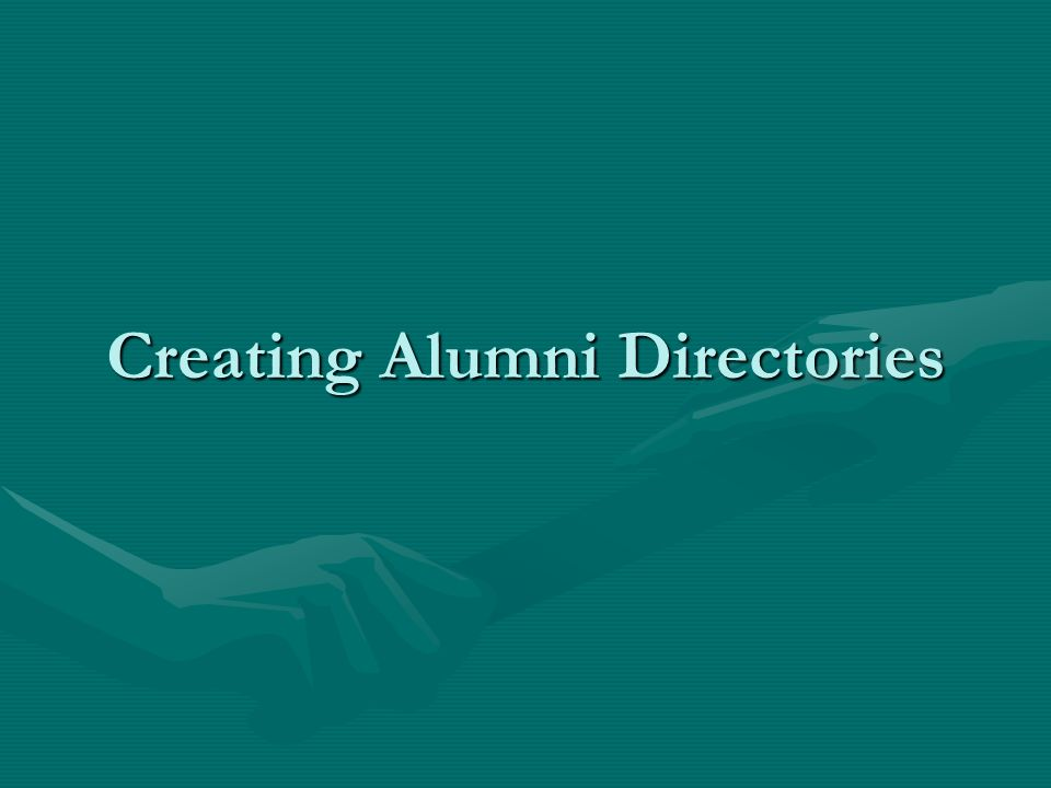 Creating Alumni Directories