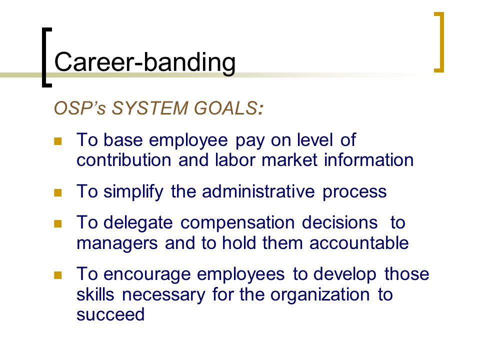 Pay Philosophy Competitive Pay will reinforce high standards and positively impact the state's ability to:  Recruit, retain and develop qualified, motivated, and diverse workforce  Promote proven successful work behaviors  Emphasize competencies and demonstrated skills and abilities on the job