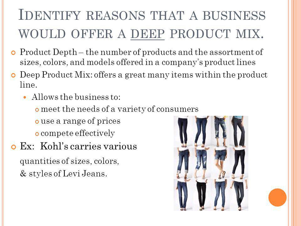 I DENTIFY REASONS THAT A BUSINESS WOULD OFFER A SHALLOW PRODUCT MIX.