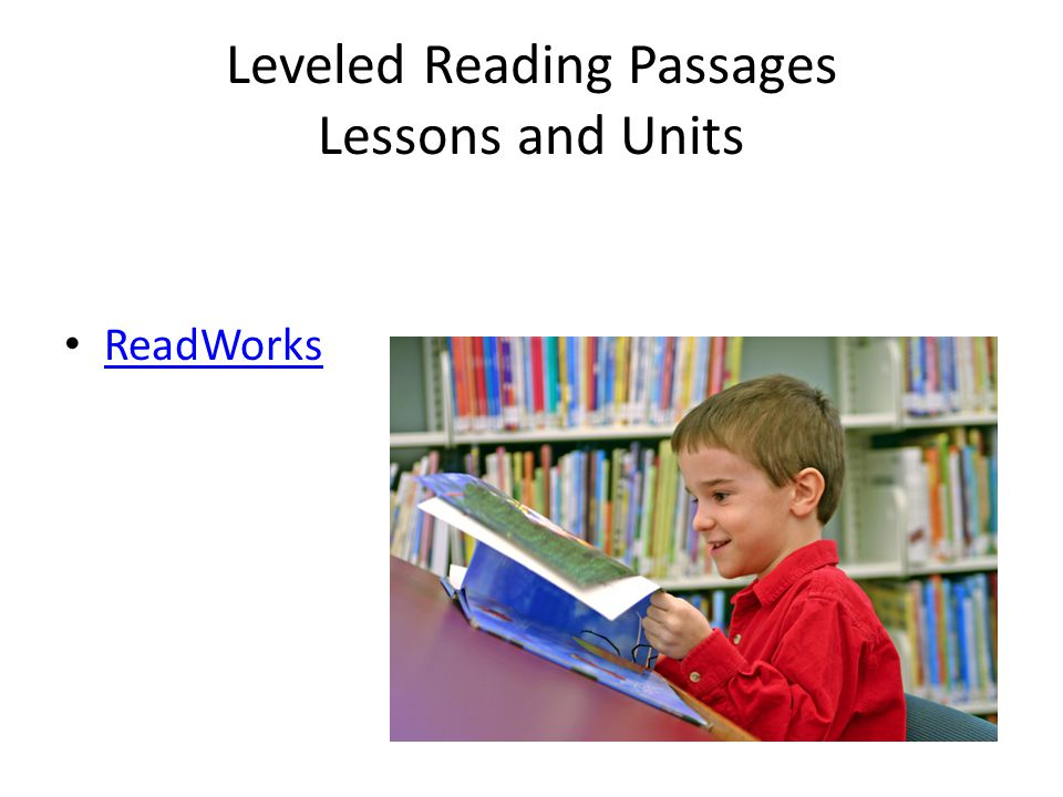Leveled Reading Passages Lessons and Units ReadWorks