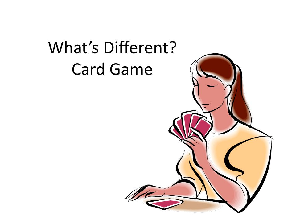 What's Different Card Game