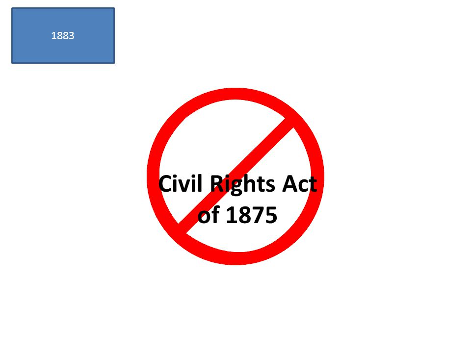 1883 Civil Rights Act of 1875