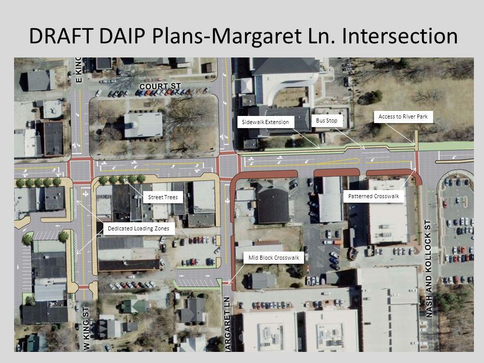 Sidewalk Extension Bus Stop Patterned Crosswalk Mid Block Crosswalk Street Trees Dedicated Loading Zones DRAFT DAIP Plans-Margaret Ln.