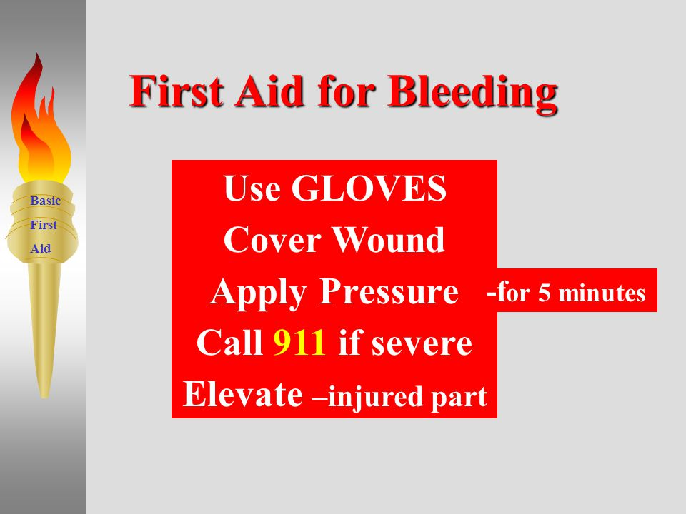 Basic First Aid Bleeding 8
