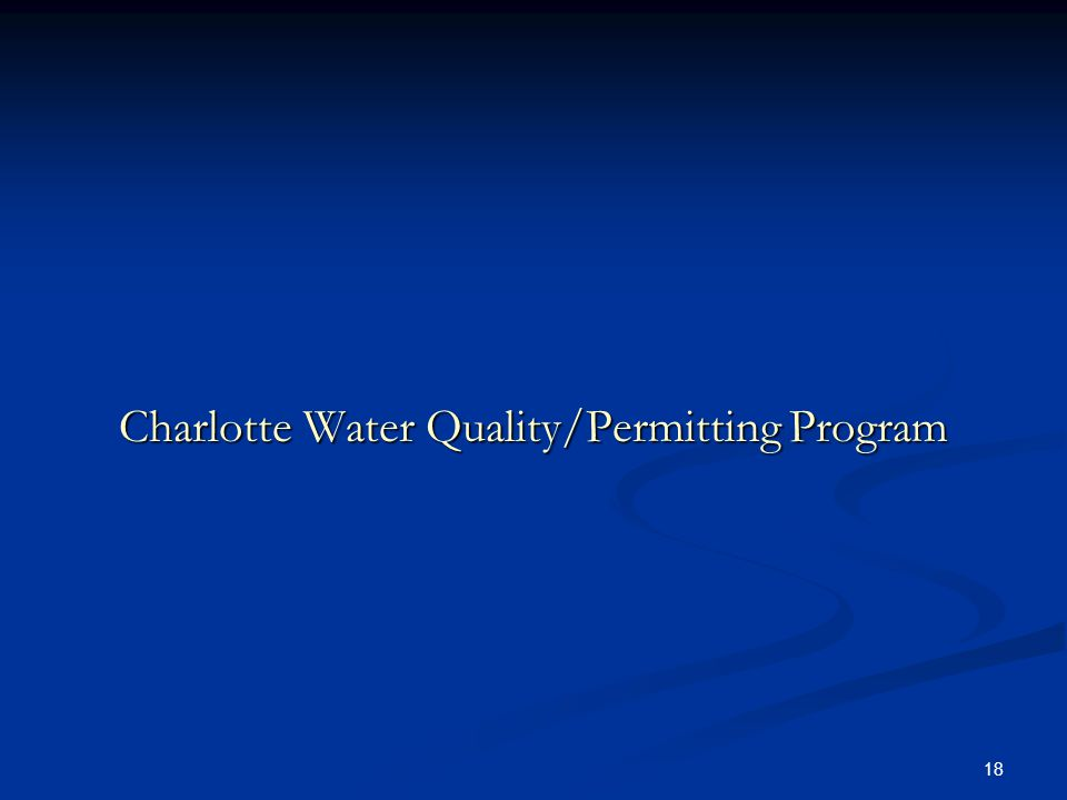 18 Charlotte Water Quality/Permitting Program