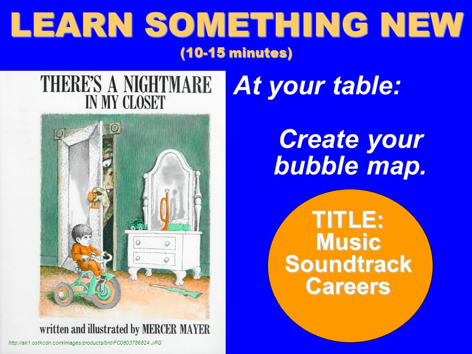 At your table: Create your bubble map.