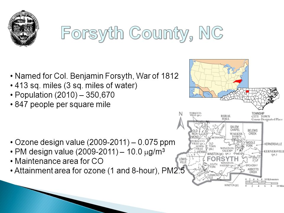 Named for Col.Benjamin Forsyth, War of 1812 413 sq.