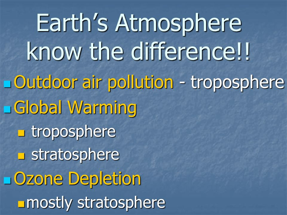 Earth's Atmosphere know the difference!.