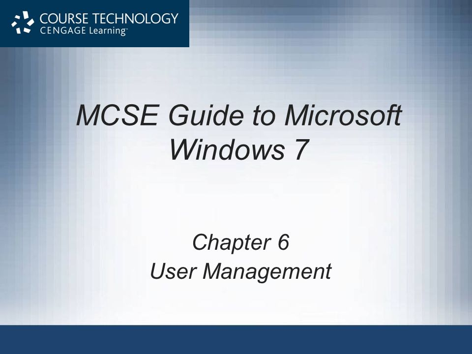 User Accounts Applet (cont d.) MCSE Guide to Microsoft Windows 722