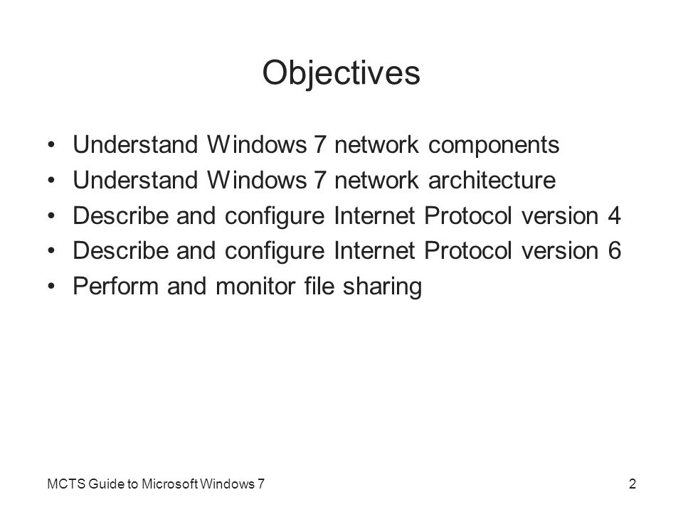Advanced Firewall Configuration (cont d.) MCTS Guide to Microsoft Windows 783