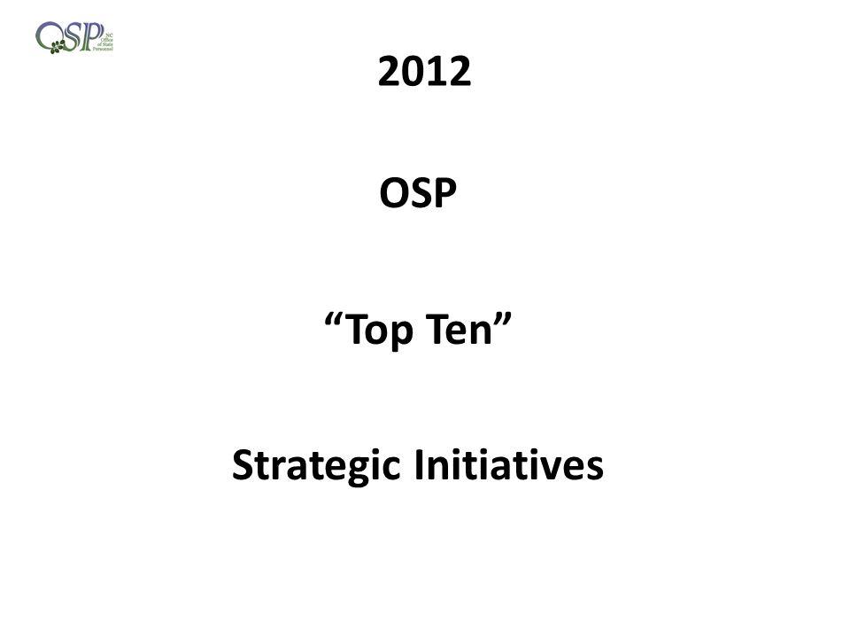 2012 OSP Top Ten Strategic Initiatives