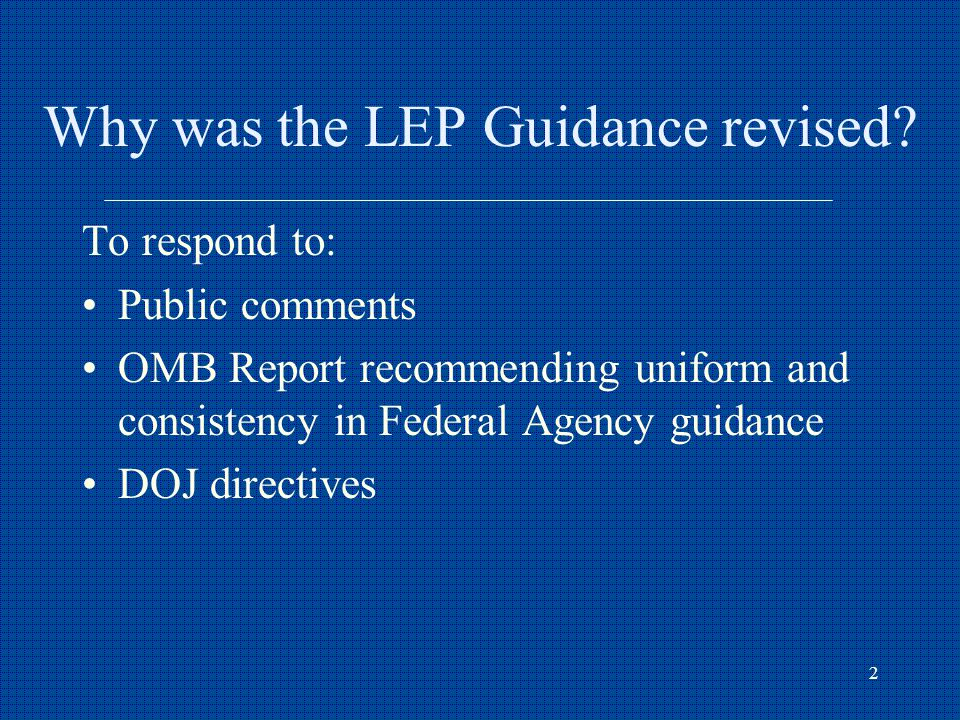 2 Why was the LEP Guidance revised.