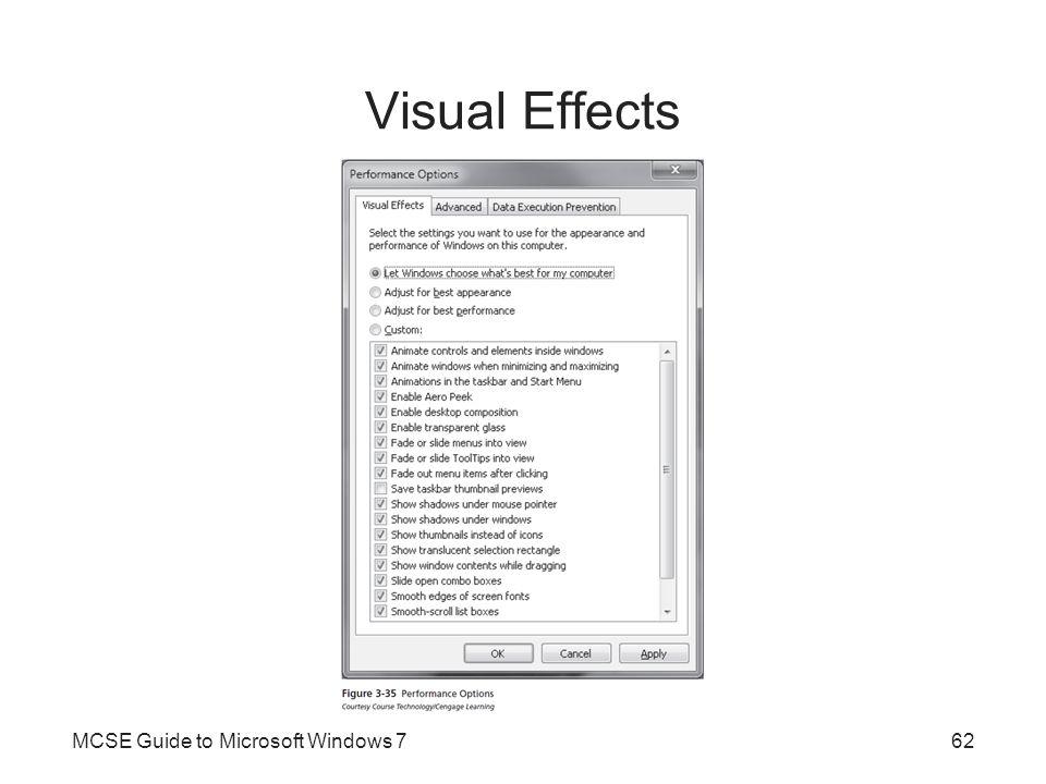 Visual Effects MCSE Guide to Microsoft Windows 762