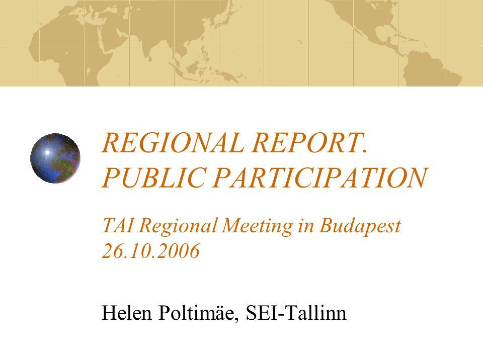 REGIONAL REPORT.