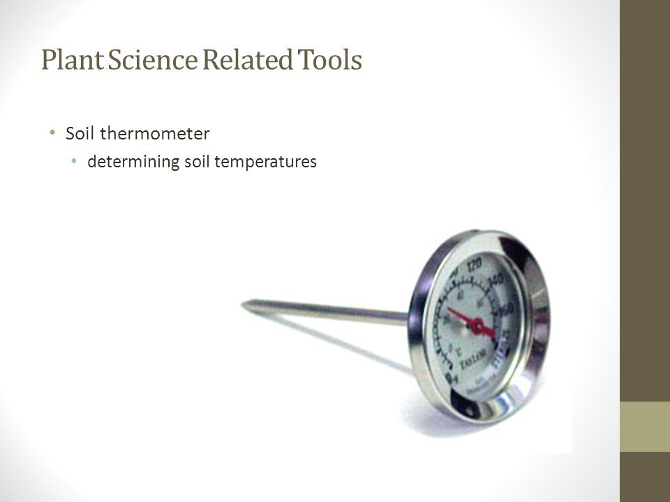 Plant Science Related Tools Soil thermometer determining soil temperatures