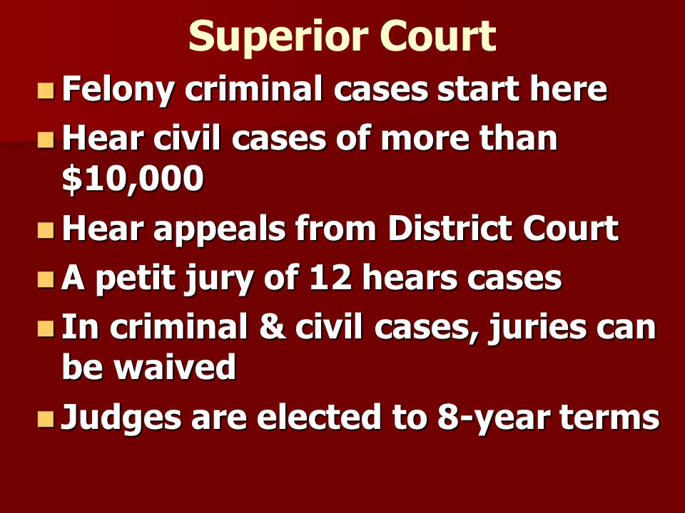 Other Officials Magistrate issues warrants; sets bail, guilty pleas, accepts payments; conducts small trials & sm.