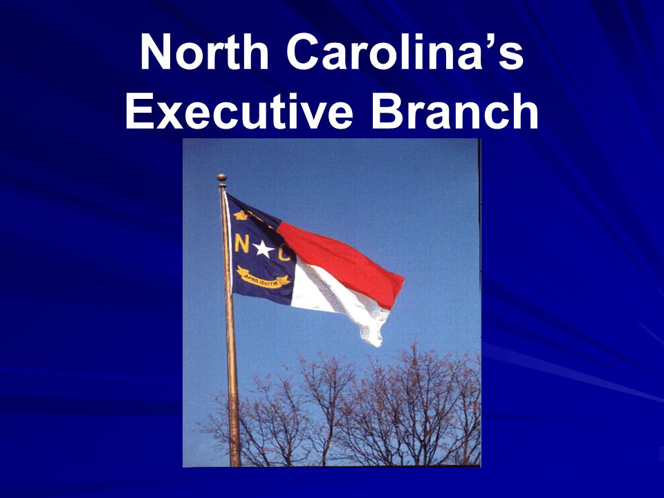Duties of NC's Governor Carries out laws.Appoints non-elected members of Cabinet.