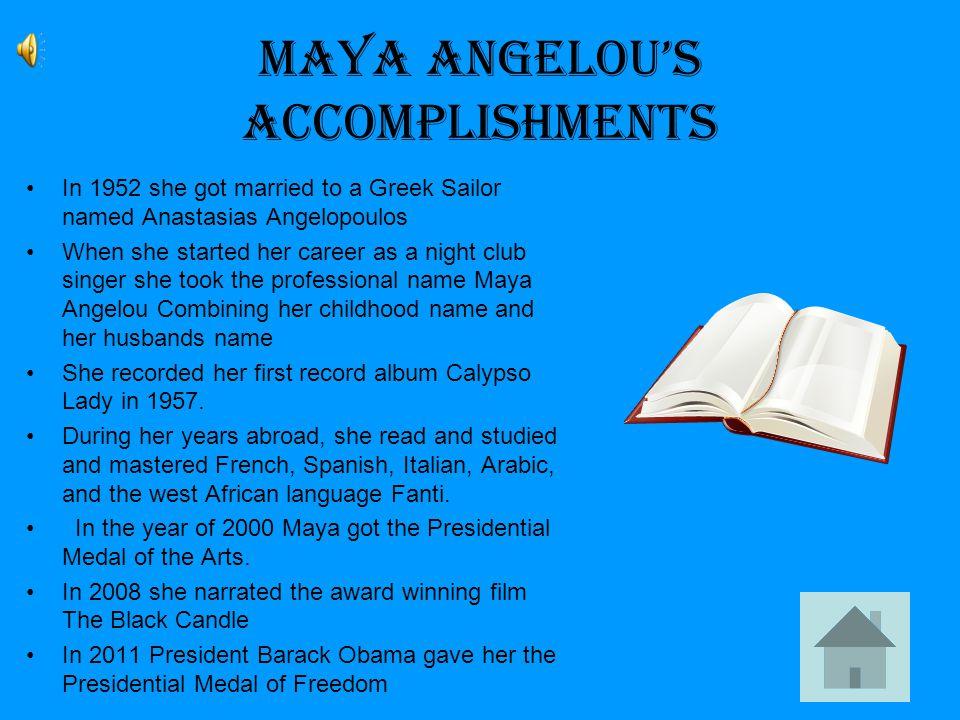 Maya Angelou Today Since 1981 Maya has served as Reynolds Professor of American Studies at Wake Forest University in Winston- Salem, North Carolina.