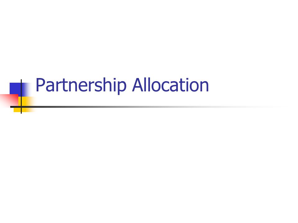 Partnership Allocation