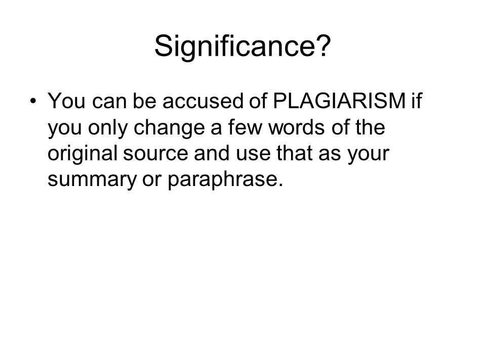 Significance.